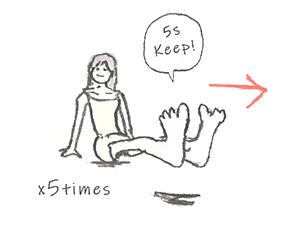 同じように左へ動かし5秒間キープ